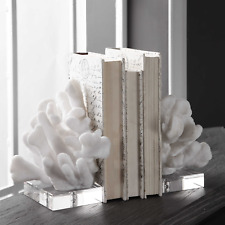 Uttermost Charbel White Bookends Coral Beach Coastal S/2