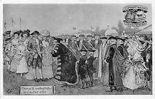 POSTCARD    ROYALTY    George  III  visiting  Oxford   1785       TUCK