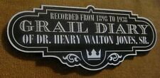 CUSTOM HENRY JONES SR. GRAIL DIARY DISPLAY PLACARD INDIANA RAIDERS LAST CRUSADE