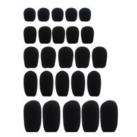 10pcs  Black Microphone Headset Foam Sponge Windscreen Mic Cover 6 Sizes