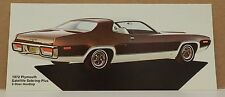 1972 PLYMOUTH SATELLITE ROADRUNNER DEALERSHIP POSTCARD CARD DEALER PROMO MOPAR
