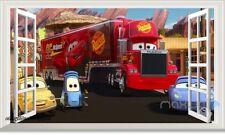 Disney Cars Mack Truck Hauler 3D Window Wall Stickers Removable Kids Decals Art