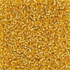 Miyuki Round Seed Beads Size 11/0 Silver Lined Dark Gold 23g Tube (D94/13)
