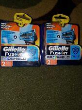 2 Gillette Fusion ProShield CHILL 2 Razor Blade Cartridge Refills each