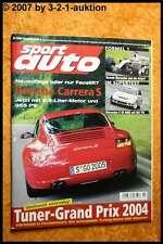 Sport Auto 7/04 AMG C 55 Porsche Carrera  Audi RS6 Plus