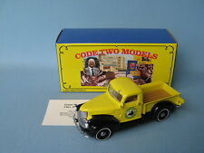 Matchbox Yesteryear 1941 Chevrolet Pick-Up Truck Yellow Body Green Meadow Code 2