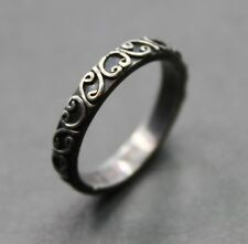 Small Sterling Silver Filigree Design Ring Size 6 / 2.7g