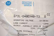 NEW ALLEN BRADLEY 872L-D40EN40-T3 PROXIMITY SENSOR SER.A 872LD40EN40T3