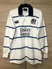 Scotland 2002-03 Vintage Away Rugby Union Shirt Jersey Cotton Canterbury size M