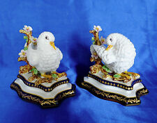 New listing Reduced $50 to $149: Exquisite Pair of French Porcelain Doves with Sevres Marks