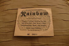 Ticket Rainbow first Monster of Rock festival 1980 UK