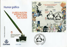 Spain 2018 FDC Intl Exhibition Arts of Humor 1v M/S Cover Cartoons Comics Stamps