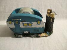 Retro Happy Camper Camping Rv Air Stream Trailer Desk Set Tape Dispenser Cute