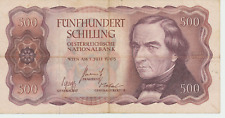 Eiamaya 500 Schilling  1.Juli 1965 Josef Ressel Nr. B 054662 L