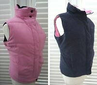 Thompson and Goodwell Reversible Gilet Navy Needlecord Pink Quilted - Size 8