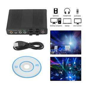 For PC USB 6 Channel 5.1 External SPDIF Optical Digital Sound Card Audio Adapter