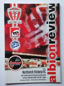 WITTON ALBION v NORTHWICH VICTORIA 2001-2002 Mid Cheshire Senior Cup S/F