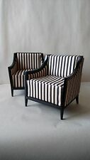 1:6 Scale Furniture for Fashion Dolls  2pc. Contemporary Chair Set 003