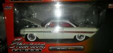 1961 Chevy Impala Diecast Car 1:24 Jada Toys Showroom 8 inch White w White Walls