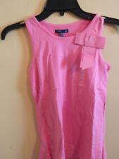 NWT Gap Kids girl sleeveless india pink tank top w/ribbon style bow; size XL
