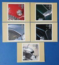 Set of 5 PHQ Stamp Postcards Set No.183 Classic Sports Cars 1996 CQ2