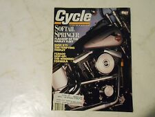 OCTOBER 1989 CYCLE MAGAZINE,HARLEY SOFTTAIL SPRINGER COVER,BMW K75,FZR600 HOP-UP