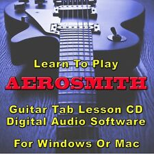 AEROSMITH Guitar Tab Lesson CD Software -86 Songs