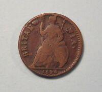 1674 Great Britain UK Farthing Copper Coin King Charles II English RARE