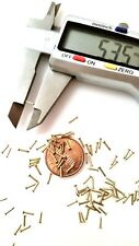 "500x 13/64"" 20G (0.8x5mm) Tiny Nails Brads Solid Brass Escutcheon pins FH"