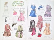 Vintage Pat Stall Paper Doll, Florence & her Frocks from 1887, From 1984 Uncut