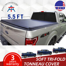 For 2004-2014 Ford F150 Tonneau Cover Soft Tri-Fold Short Trunk Crew Cab 5.5ft