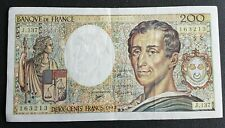 FRANCE - FRANCIA - FRENCH NOTE - BILLET DE 200 FRANCS MONTESQUIEU 1992 SUP.
