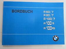 BMW R60/7 R80/7 R100/7 R100S R100RS Bordbuch Handbuch Betriebsanleitung