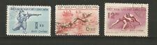 Vietnam du Nord 1959 série sportive 3 timbres oblitérés /T6339