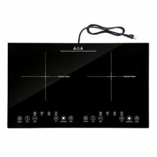 New listing 1800W Electric Cooker Countertop Double Burner Cooktop Digital Touch Panel