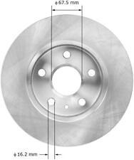 Disc Brake Rotor-Base Front Bendix PRT6033