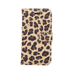 Leopard Leather Wallet Card Holder Case Cover For Apple iPhone 4s 5 SE 6 6S Plus
