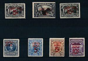[35797] Panama 1937 Good airmail set quasi VF MH/2 stamps disturbed gum