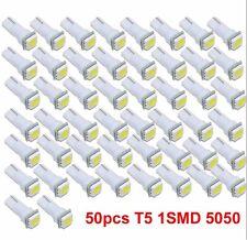 50X Ultra White T5 70 Wedge 1-SMD LED Gauge Cluster Lights Instrument Panel Bulb