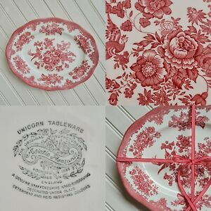 Vintage Red Asiatic Pheasant Serving Plate By Unicorn Tableware - Free P&P Inc