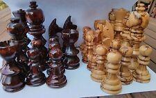 Bethlehem Olive Wood Chess Set Pieces Israel Jerusalem Handmade Gift Large Size