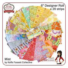 Kaffe Fassett Fabric Mist Rowan quilting fabrics Jelly Roll Retro Modern Vintage