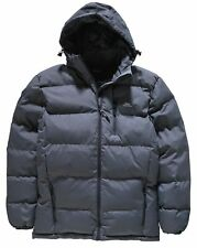 TRESPASS GREY PUFFER JACKET - LARGE