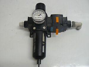 WILKERSON PNEUMATIC B2806FK00 FILTER REGULATOR WITH V28-040000 LOCKOUT VALVE