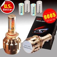 8000LM 80W Dual Color White /Amber 9005 H10 LED Headlamp Kit HID H/L Beam Bulbs