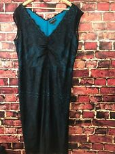 Lane Bryant Dress Women's Size 20 Lace Lined Special Occasion Sleeveless Black