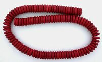 12mm x 3.5mm.Flat Disc Rondelle Magnesite Red Coral Color Beads 15 Inch Strand