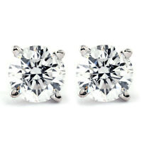 1.00 Ct TDW Diamond Studs in 10k White or Yellow Gold