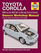 Toyota Corolla Repair Manual Haynes Manual Workshop Manual  2002-2007 4791
