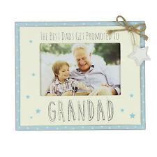 Vintage Wooden Promoted to Grandad Sentiment Photo Frame Gift Fw555gd